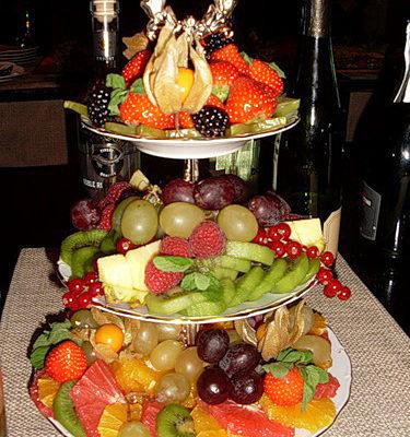 Использование в сервировке многоярусной тарелки