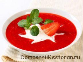 Суп из клубники и крыжовника