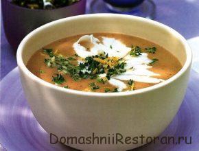 Суп-пюре из баклажанов и фасоли