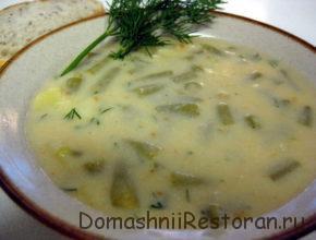 Суп-пюре из кабачков и стручковой фасоли