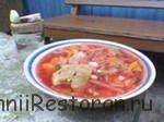Рыбный суп с огурцами