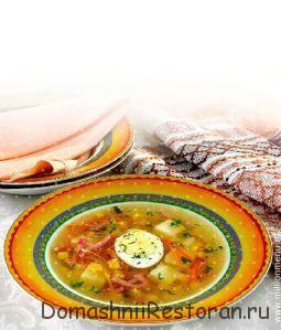 Суп картофельный с кукурузой молочной зрелости