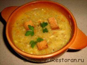 Суп из сушеного картофеля и овощей