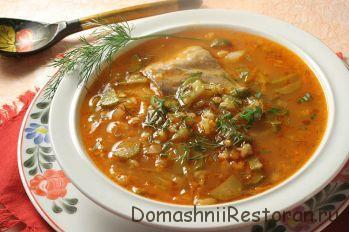 Суп с гусем по-литовски