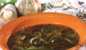 Суп грибной на молоке