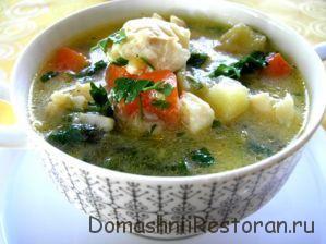 Суп из налима с овощами