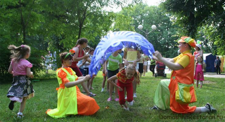 детский праздник на природе с аниматорами