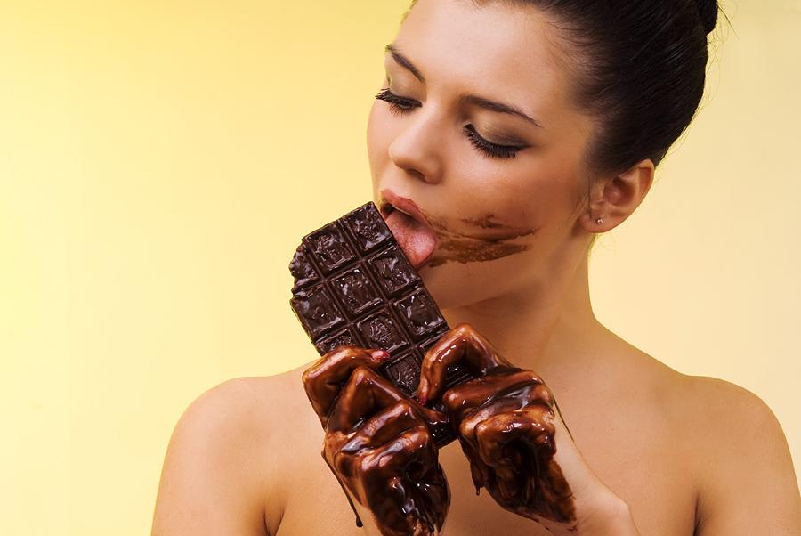 девушки в шоколаде секс вашей жены