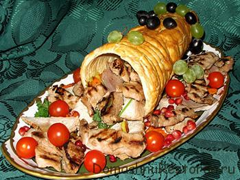 готовое блюдо мясное ассорти рог изобилия