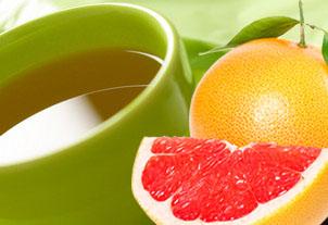 грейпфрут и зелёный чай