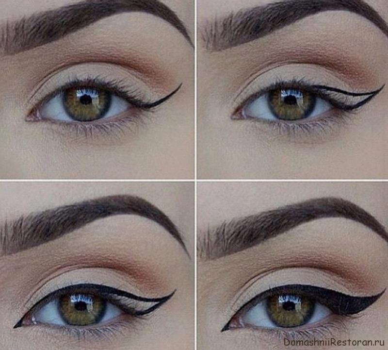 идеальные стрелки на глазах