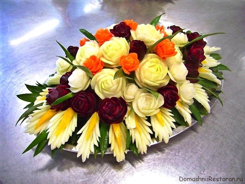 Цветы из свежих овощей