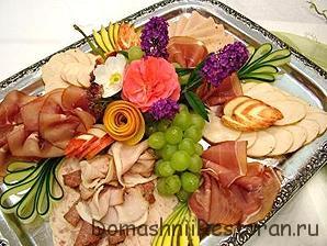 мясная тарелка пара примеров оформления