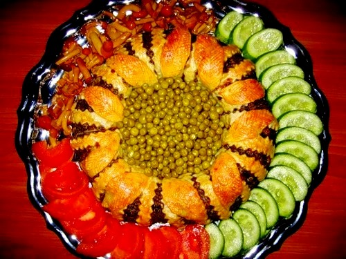 праздничная выкладка овощей