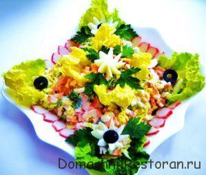 простой салатик украшение