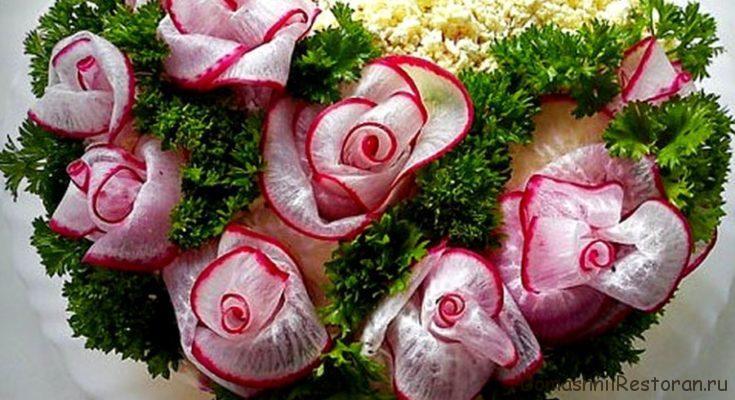 розы из редиса