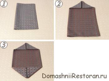 Способы складывания салфеток 21-30, пошаговые фото