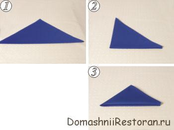 Способы складывания салфеток 31-40, пошаговые фото