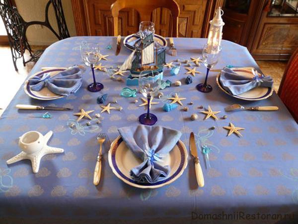 Примеры сервировки и украшения стола для разных случаев