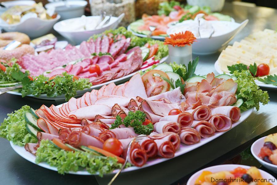 Украшение блюд для банкетного стола