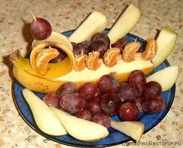 украшение банана корабль аргонавтов