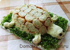 украшение салата - черепаха