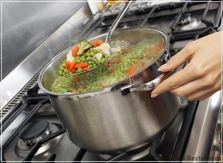 варка овощей