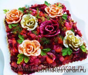 винегрет розовый торт
