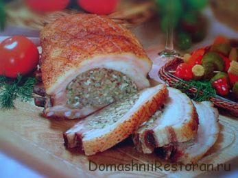 Грудинка баранья, фаршированная мясом