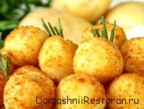Картофельно-мясная закуска «Золотые шарики