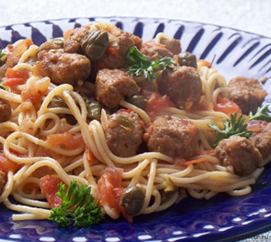 Спагетти с мясной подливой