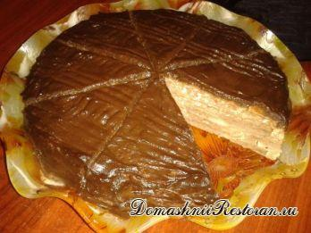Блинный торт с заварным и сметанным кремом