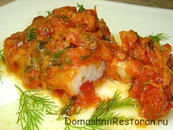 Филе трески с томатной корочкой