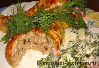 Курица с орехами и чесноком