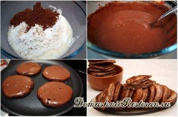 Шоколадные оладьи за 5 минут