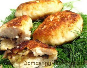 Зразы из рыбы и грибов под соусом
