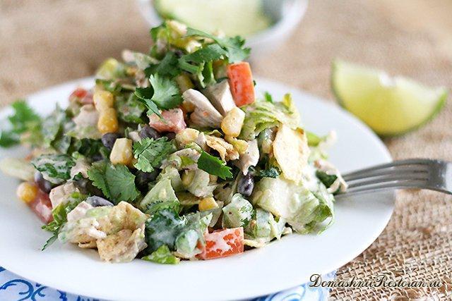 Юго-западный куриный шопский салат