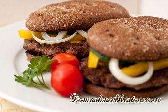 Гамбургер с ржаным хлебом