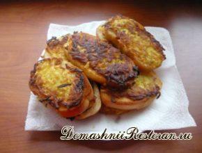Горячие картофельные бутерброды