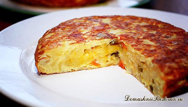 Испанская тортилья с картошкой