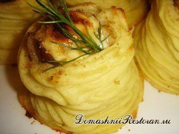 Картофельные гнёзда из пюре с пошаговыми фото