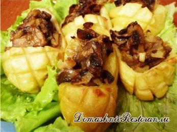 Картофельные лапти c начинкой (с грибами, с мясом, с рыбой и др. по вкусу)