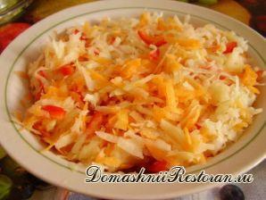 Кольраби с твердым сыром