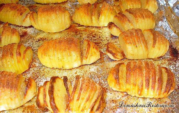 Нарядная картошка по-шведски (постное блюдо)