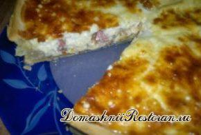 Открытый пирог из картофельного пюре с пошаговыми фото