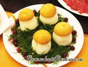 Примеры сервировки яиц