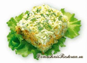 Салат «Мимоза» с лососем