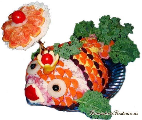 Салат «Рыбка под зонтиком