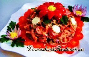 Салат из помидоров с грибами