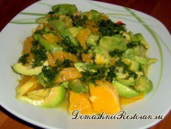 Салат из редьки с апельсинами